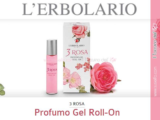 3 Rosa Profumo Gel Roll On